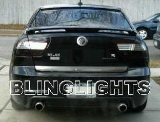 Mercury Milan Tinted Smoked Taillamps Taillights Overlays Protection Film