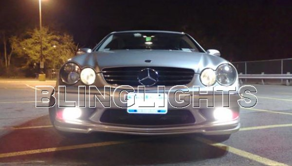 2007 2008 Mercedes-Benz CLK550 LED Fog Lights Driving Lamps Foglamps Kit Mercedes CLK 550