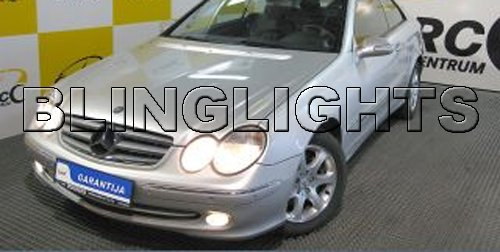 2002 2003 2004 2005 Mercedes-Benz CLK320 Xenon Fog Lights Driving Lamps Foglamps Foglights Kit CLK