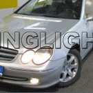 2002 2003 2004 2005 Mercedes-Benz CLK200 Xenon Fog Lights Driving Lamps Foglamps Lamp Kit CLK 200