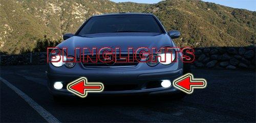 2001 2002 2003 2004 Mercedes-Benz C30 AMG Xenon Fog Lights Driving Lamps Foglamps Lamp Kit C 30 w203