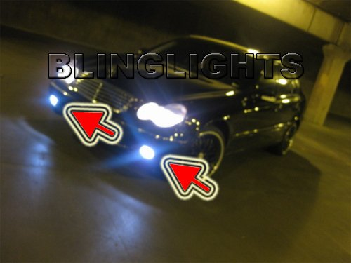 2005 2006 2007 Mercedes-Benz C350 Xenon Fog Lights Driving Lamps Foglamps Kit C 350 Mercedes W203