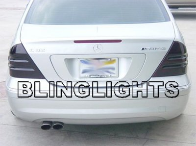 2005 2006 2007 Mercedes-Benz C270 CDI Smoked Taillamps Taillights Tail Lamps Tint Film Overlays w203