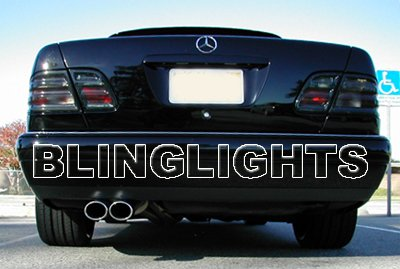 1998 1999 Mercedes E430 Smoked Taillamps Taillights Tail Lamps Lights Tint Film Overlays E 430 w210