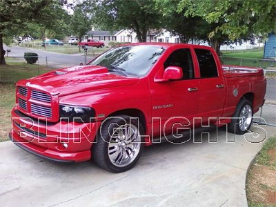 Ram 1500 2500 3500 Tinted Head Lamps Light Overlays Kit Smoked Film Protection