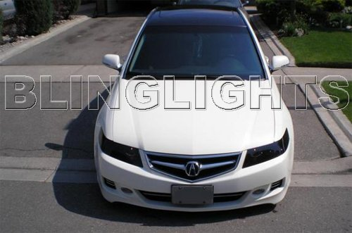 Acura TSX Smoked Head Lamp Light Tinted Overlays Kit Protection Film