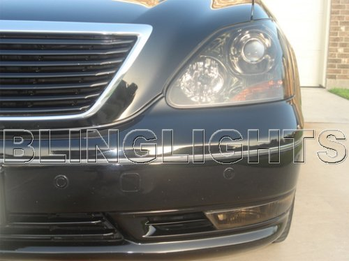 Lexus LS430 Tinted Smoked Headlamps Headlights Overlays Kit Protection Film 2001-2006