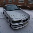 BMW E36 3 Series Tinted Smoked Head Lamp Light Overlays Kit Protection Film