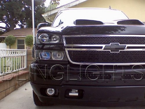 2003-2014 Chevy Silverado Halo Fog Lamp Driving Light Angel Eye Kit