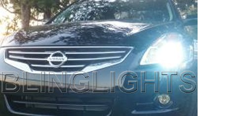 2010 2011 Nissan Altima Bright White Light Bulbs for Halogen Headlamps Headlights Head Lamps Lights