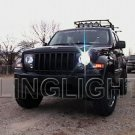 2008 2009 2010 2011 2012 2013 Jeep Liberty KK Bright White Light Bulbs Headlamps Headlights Upgrade