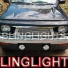 1998 1999 2000 Toyota Tacoma White Angel Eye Bumper Fog Lamps Lights