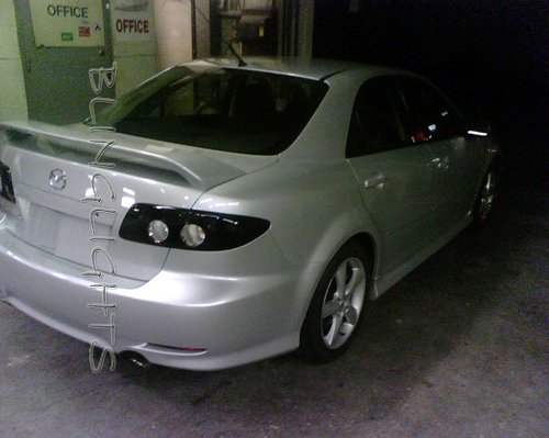 2003 2004 2005 2006 2007 2008 Mazda6 Tinted Smoked Protection Overlays for Taillamps Taillights