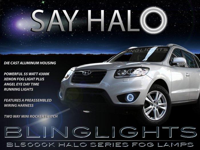 2010 2011 2012 Hyundai Santa Fe Halo Fog Lights Lamps Kit
