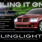 Dodge Caliber Head Lamp LED DRL Light Strips Day Time Running Kit