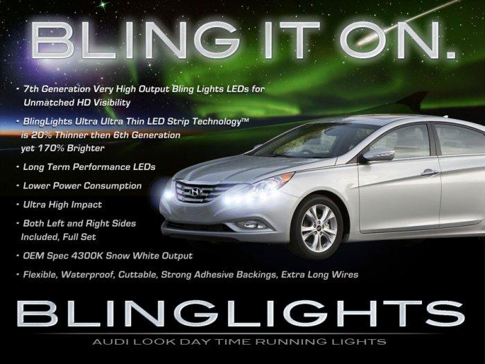 Hyundai Sonata LED DRL Strips for Headlamps Headlights Head Lamps Day Time Running Strip Lights DRLs