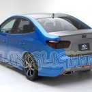 2007-2010 Hyundai Elantra Tinted Smoked Tail Light Lamps Overlays Film Protection