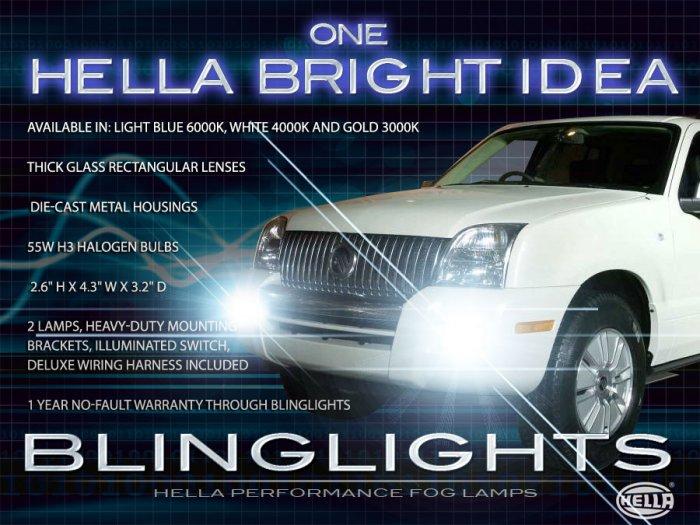 2006 2007 2008 2009 2010 Mercury Mountaineer Fog Lamps Driving Lights