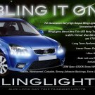 Kia Rio Rio5 LED DRL Head Lamp Light Strips Day Time Running Kit