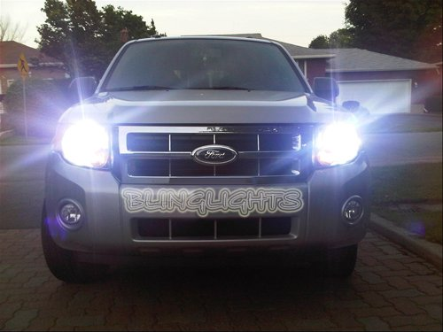 Ford Escape Bright White Head Lamp Light Bulbs Upgrade Replacement Set