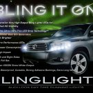 2008 2009 2010 Toyota Highlander LED Strip Day Time Running Lights Head Lamps Headlamp Headlight DRL