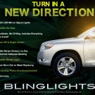 2008 2009 2010 Toyota Kluger LED Turnsignals for Mirrors Turn Signals Signalers Lights Lamps