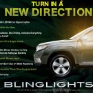 2011-2013 Toyota Kluger LED Mirrors Turn Signals Lights Side Blinkers Lamps Signalers Kit
