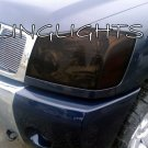 2004-2012 Nissan Titan Tinted Smoked Protection Overlays Film for Headlamps Headlights Head Lamps