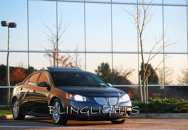 2005 2006 2007 2008 2009 Pontiac G6 White Light Bulbs Headlamps Headlights Head Lamps Lights