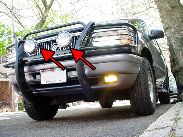 1997-2010 Mercury Mountaineer Halo Lights Bar Auxilliary Driving Lamps Offroad Angel Eye Lighting