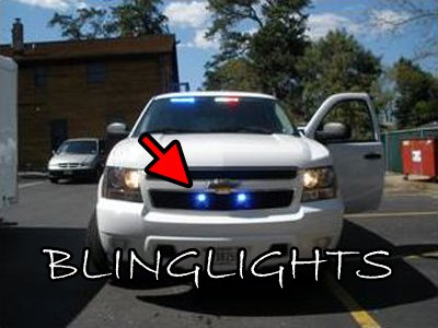 Chevrolet Tahoe LED Grille Police Lights Chevy GMT900 Driving Fog Lamps EMT Kit