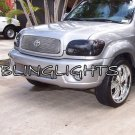 Toyota Sequoia Tinted Smoked Protection Overlays Film for Headlamps Headlights Head Lamps Lights