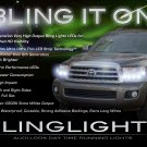 2008-2015 Toyota Sequoia LED DRL Head Lights Strips Day Time Running Lamps Kit