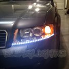 1997-2008 Audi S4 LEDs DRLs Headlamps Strips Headlights Head Lamps Day Time Running Lights
