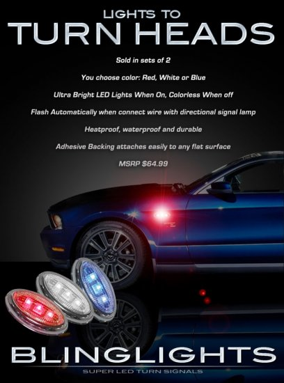 Ford Mustang Side LED Accent Marker Lights Turnsignals Lamps Turn Signals Markers Signalers Accents