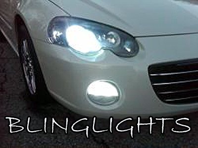 2001 2002 2003 2004 2005 2006 Chrysler Sebring White Bulbs for Headlamps Headlights