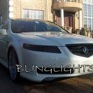 2004-2008 Acura TL Tinted Smoked Headlamps Headlights Overlays Film Protection