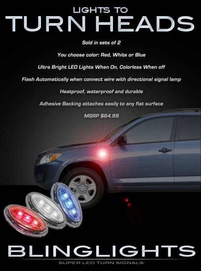 1995-2012 Toyota Rav4 LED Side Markers Turnsignals Turn Signals Lamps Signalers Lights Signal
