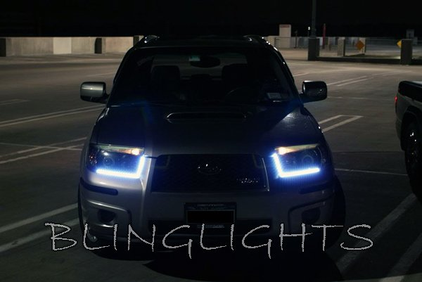 Blinglights 2003 2008 subaru forester led drl head lamp light strips kit mozeypictures Choice Image