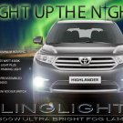 2011 2012 2013 Toyota Kluger LED Fog Fog Lamp Light Kit Drivinglights Foglamps Foglights
