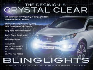 2011 2012 2013 Kia Sportage LED Foglamps Foglights Driving Fog Lamps Lights Kit