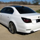 BMW 5-Series E60 E61 Tinted Tail Lamp Light Overlays Kit Smoked Protection Film