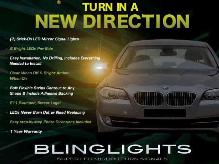 BMW 5 Series E34 E39 E60 E61 F10 F11 Mirrors LED Turnsignals Turn Signals Signalers Lights Lamps
