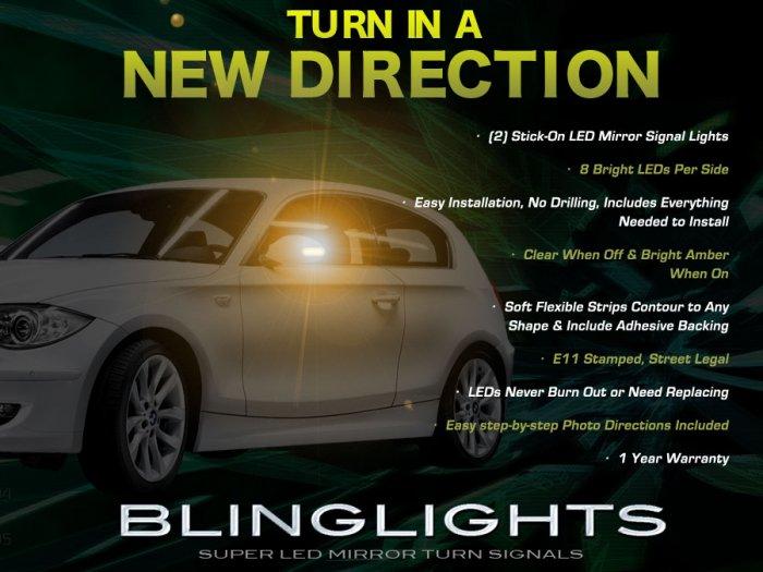 BMW 1 Series E81 E82 E87 E88 F20 Mirrors LED Turnsignals Turn Signals Signalers Lights Mirror Lamps