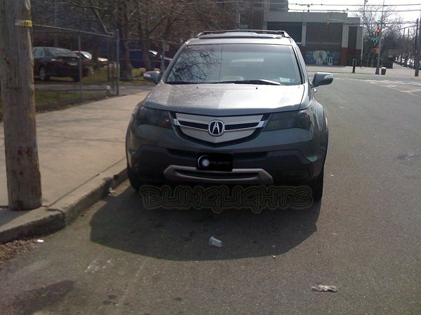 Acura MDX Tinted Smoked Headlamps Headlights Overlays Film Protection