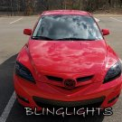 Mazda3 Mazda 3 Smoked Headlamps Headlights Head Lamps Lights Tinted Protection Overlays Tint Film