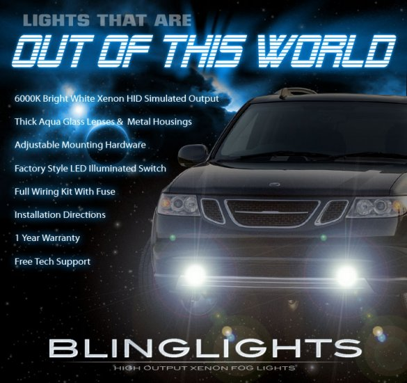 2005 2006 2007 2008 2009 Saab 9-7x Xenon Foglamps Foglights Driving Fog Lamps Lights Kit