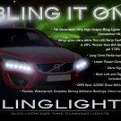 Volvo XC60 LED DRL Head Light Strips Day Time Running Lamp Kit