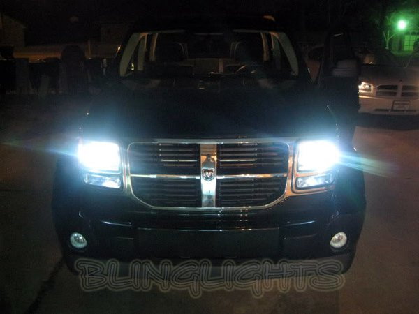 2007 2008 2009 2010 2011 Dodge Nitro Bright White Replacement Light Bulbs for Headlamps Headlights