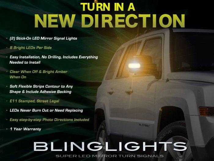 Jeep Patriot Side Mirror Lights Turn Signal Lamp Pair Kit Set